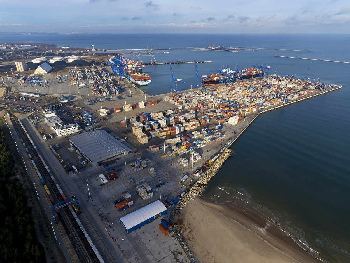 The Port of Gdansk among the world's top container ports
