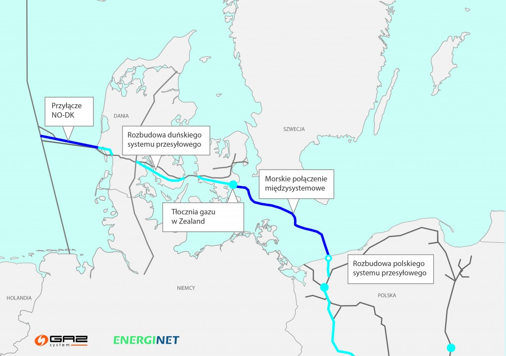 Baltic Pipe route (Photo credit: Gaz-System SA)