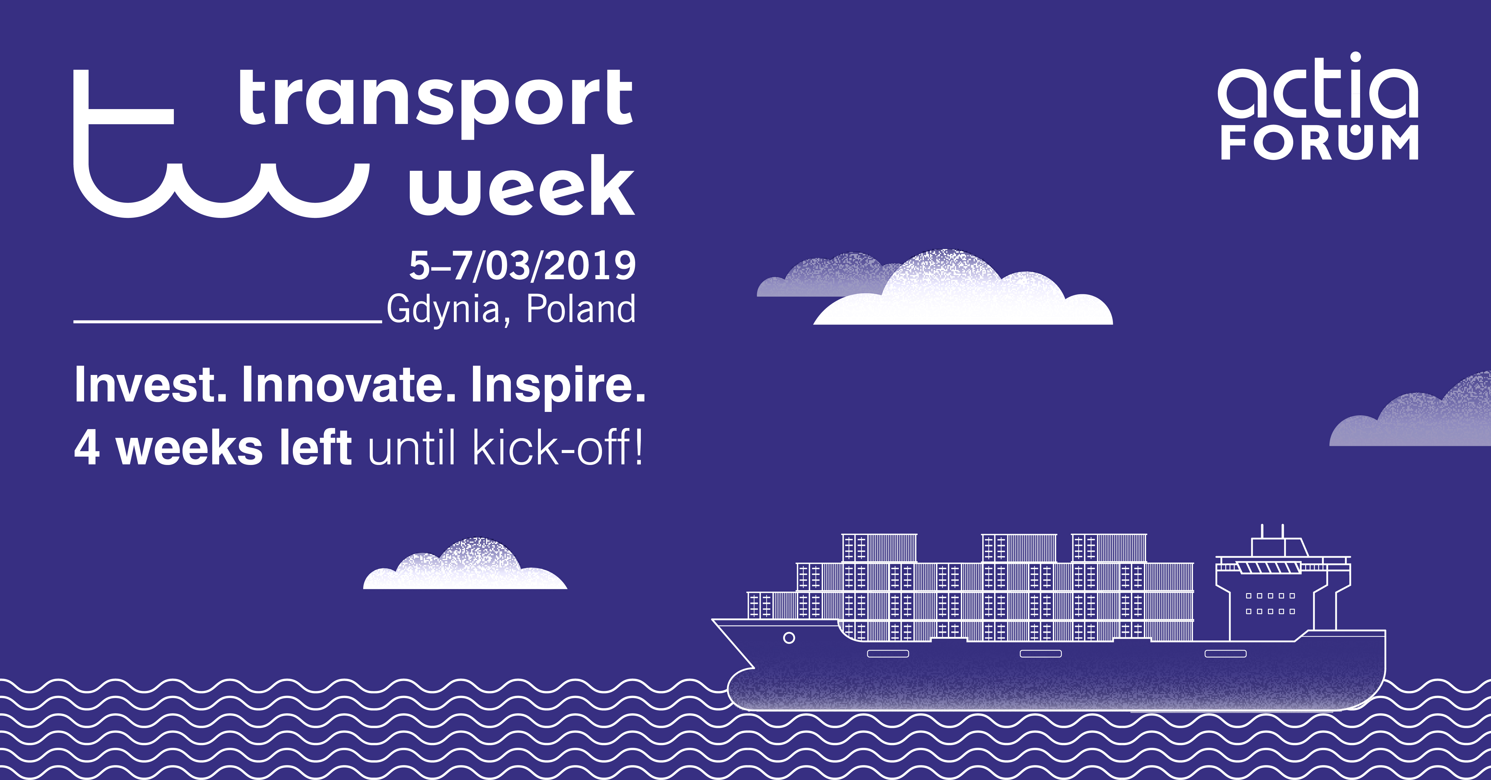 Transport Week 2019 – going live in three weeks!