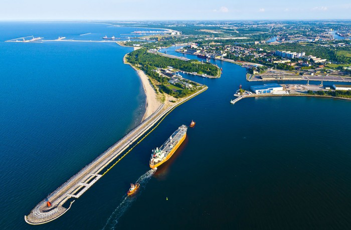 Port of Gdańsk - inner port entrance
