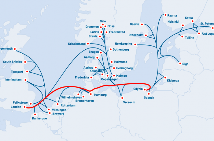New service shown in the Unifeeder array of container liner connections.