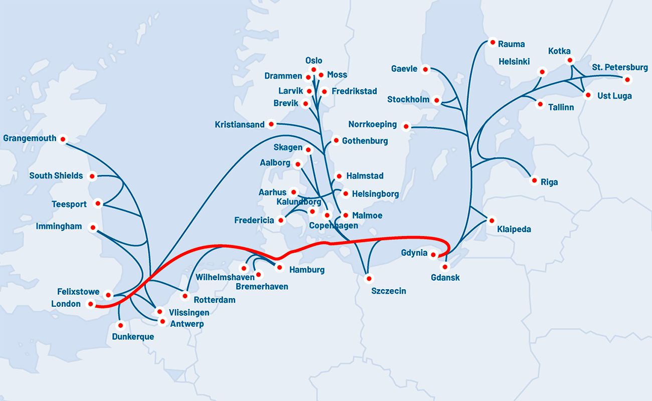 Gdynia and London to be linked with new container liner servicein February 2019