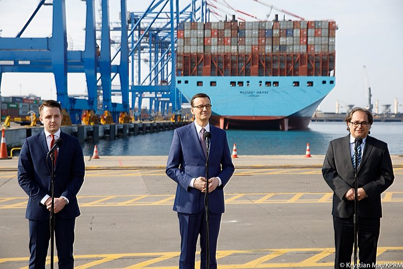Prime Minister Morawiecki at the Port of Gdansk