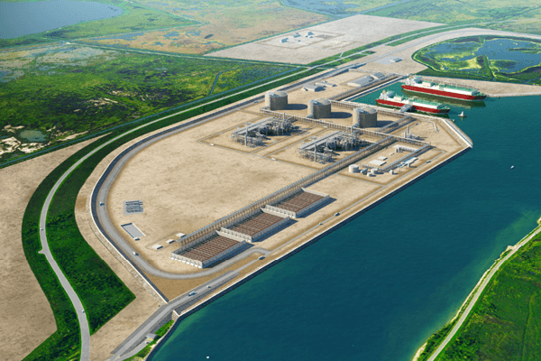 Rendering of the Port Arthur LNG Project (Photo: courtesy of Sempra LNG)