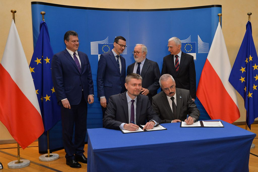 The agreement regarding the EU support for the Baltic Pipe signed