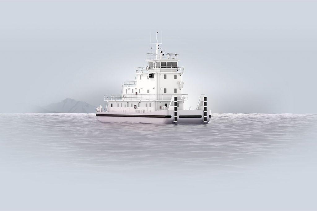 hydrogen powered river vessel