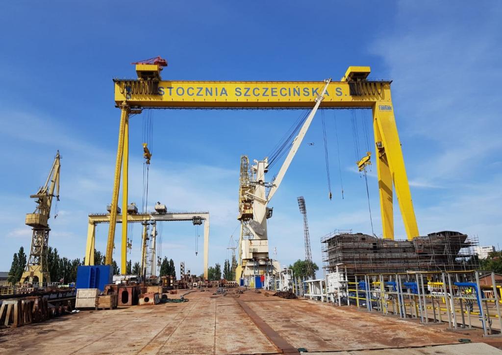 Szczecin shipyard. Polish Baltic Shipping
