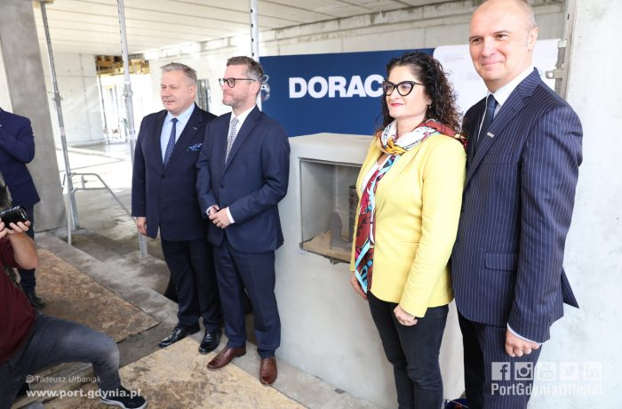 Foundation stone for the construction of the Public Ferry Terminal in the Port of Gdynia