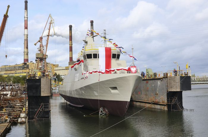 ORP Albatross – the second in a series of three advanced minehunters launched!