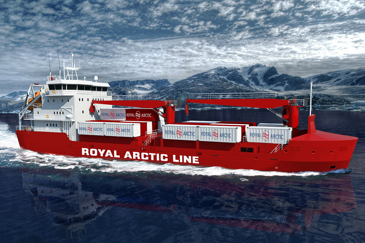 Arctic tanker type B203 - visualisation