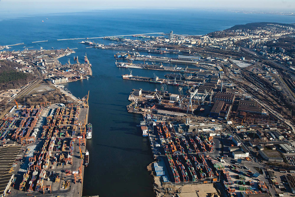 Port Of Gdynia With Concern For The Environment Poland