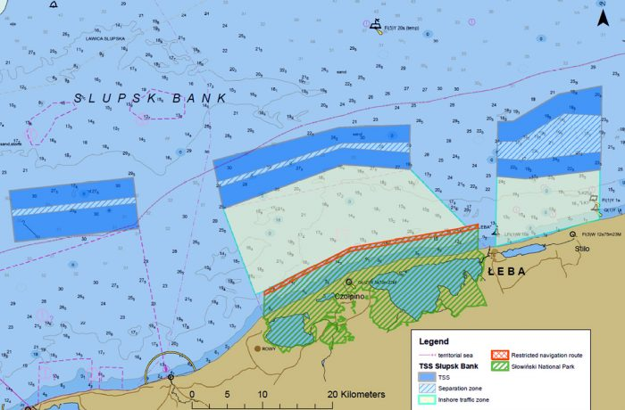 IMO approves amendments to the Traffic Separation Scheme for TSS Ławica Słupska