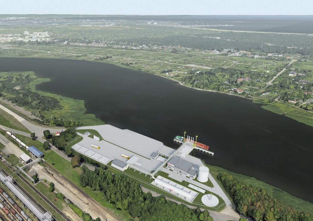 The construction of the small scale LNG terminal in Gdańsk is entering the next stage