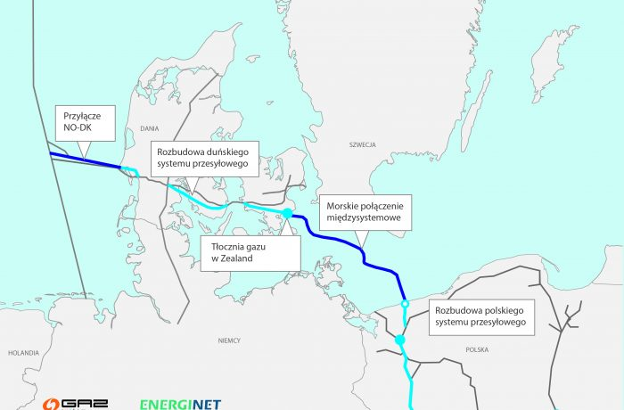 Map of the Baltic Pipe (Map: Gas-System)
