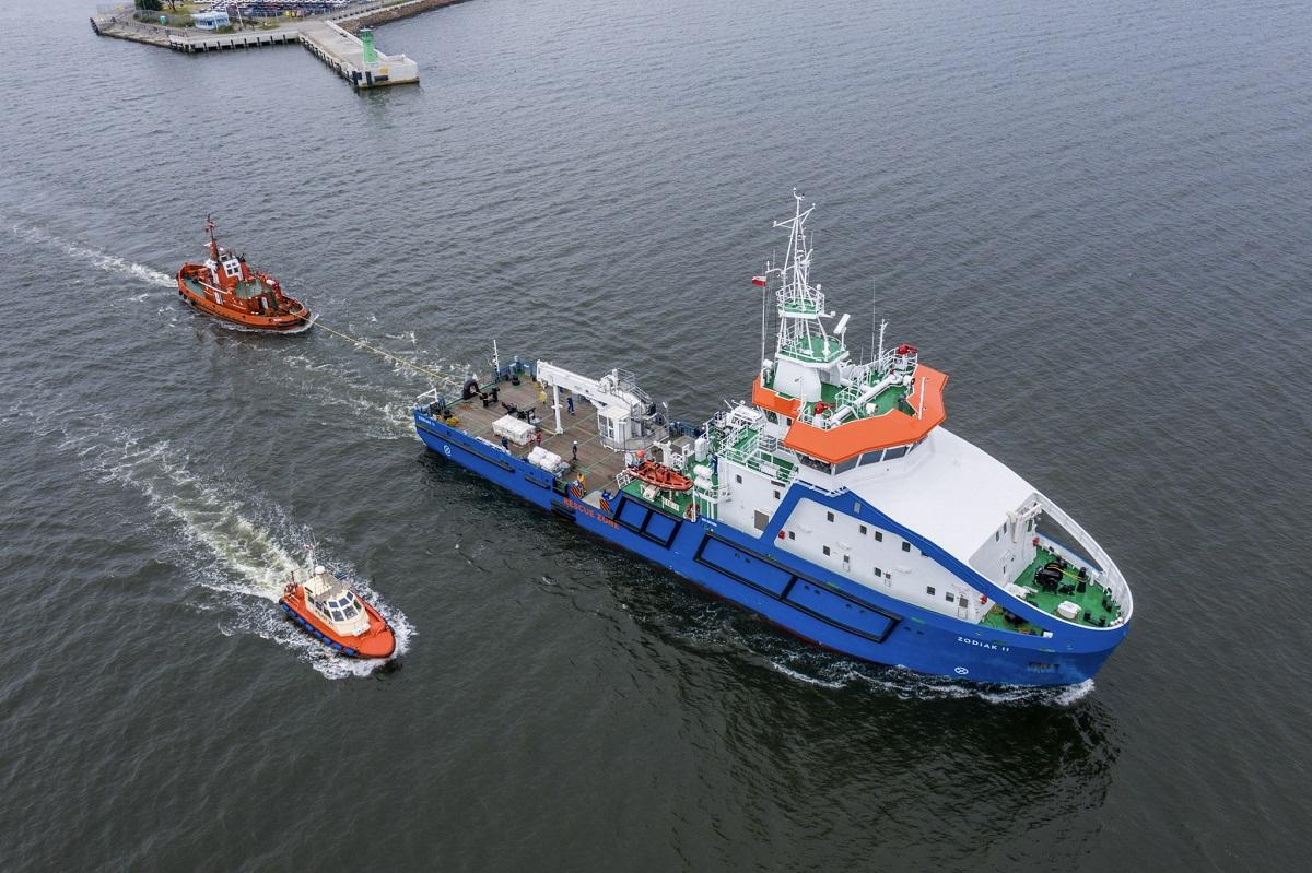 Zodiac II from Remontowa Shipbuidling SA at sea trials!