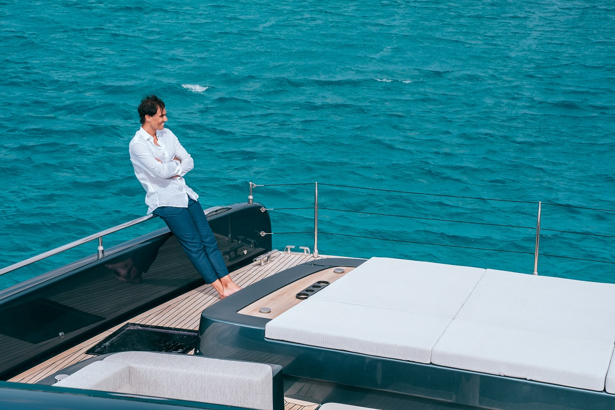 Rafael Nadal On His New Luxury Yacht From Sunreef Yachts Poland At Sea Maritime Economy Portal