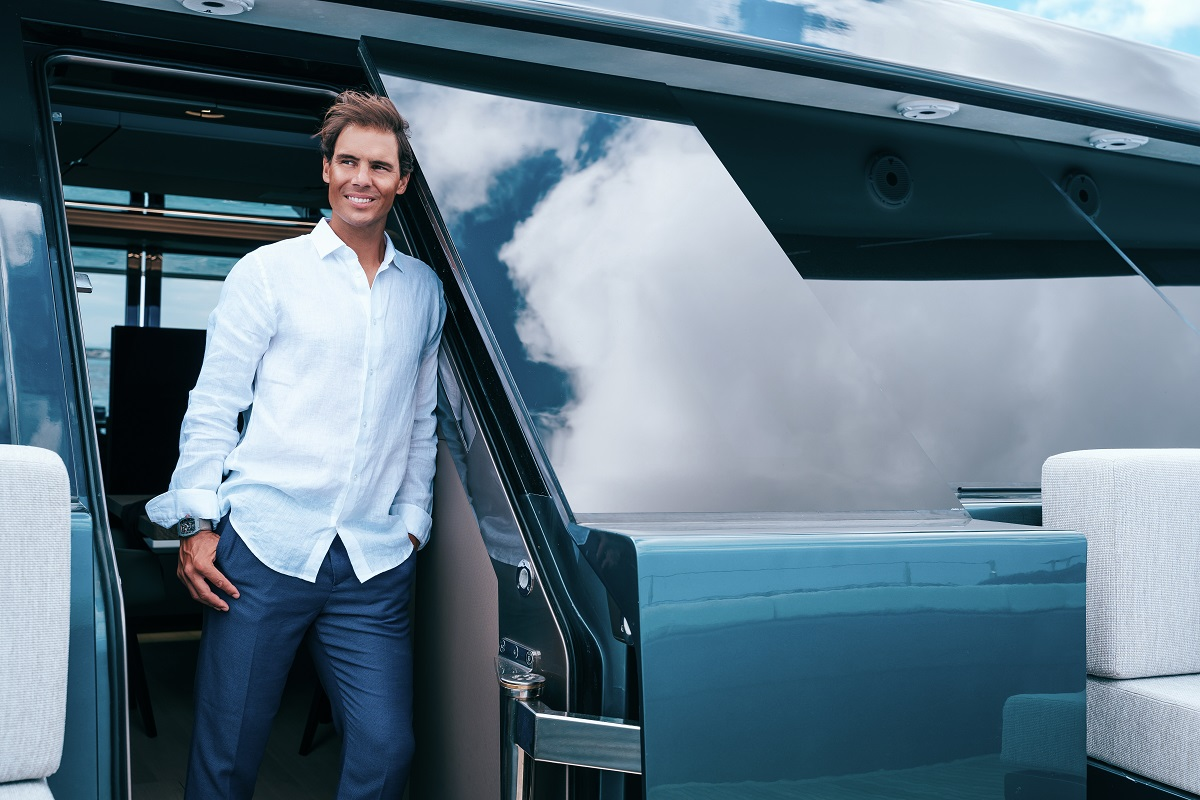 Rafael Nadal on his new luxury yacht from Sunreef Yachts