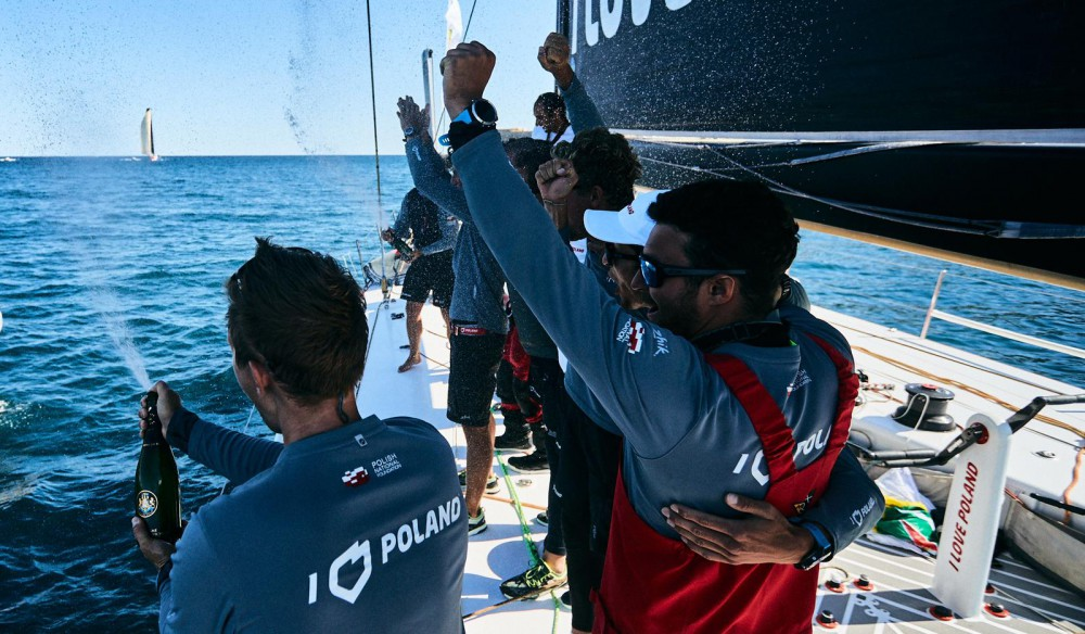 I love Poland at the finish line of Rolex Middle Sea Race
