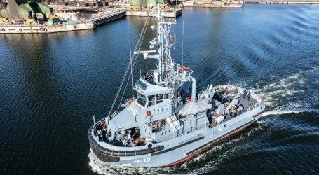 Sea trials of the H-13 tug Przemko