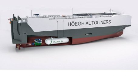 """Hoegh's new record-setting car carrier …and very """"green"""""""