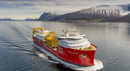 Sea trials of the cable-laying vessel Nexans Aurora