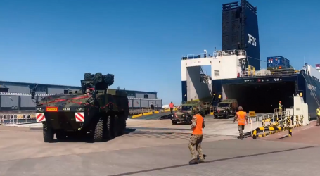 Transport of military vehicles in the Port of Gdansk