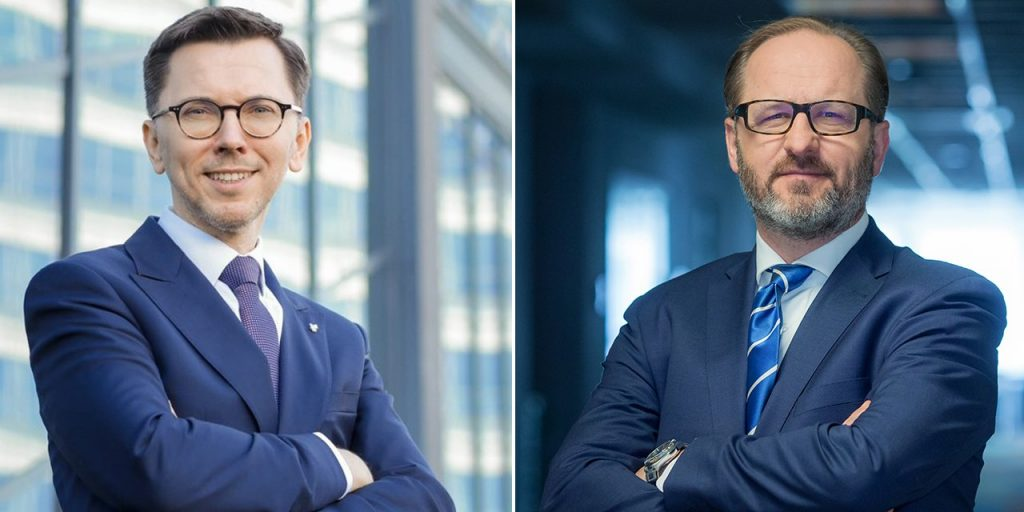 Michal Kolodziejczyk (left), Equinor country manager in Poland, and Michał Michalski,