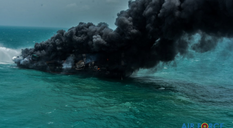 Chemical-filled container ship has been on fire for a week