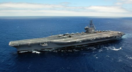 US aircraft carrier strike group in disputed South China Sea