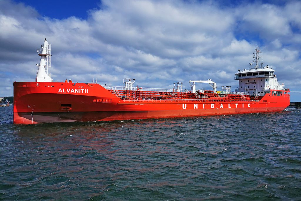 Alvanith chemical tanker in Gdynia