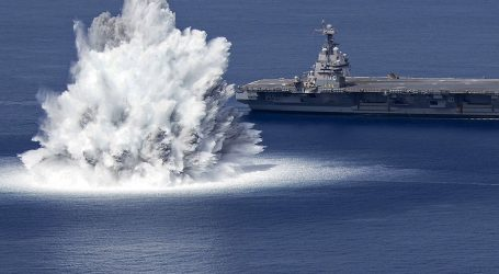 Shakedown test of aircraft carrier USS Gerald R. Ford
