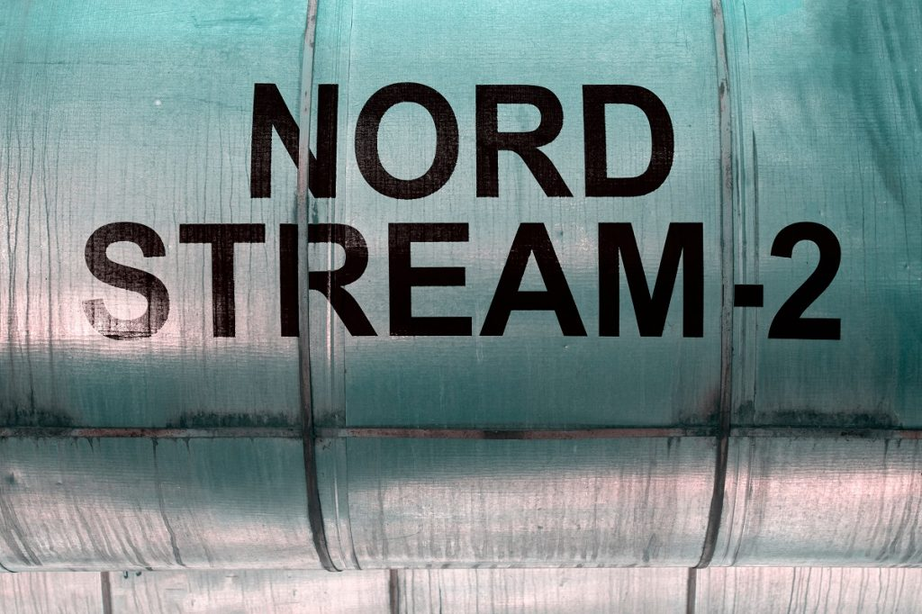 Pipeline With The Inscription Nord Stream 2