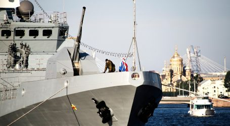 Russian warships held exercises in the Mediterranean