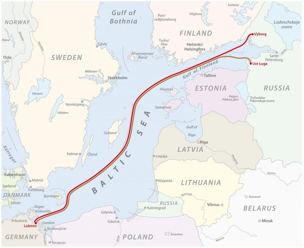 Map Of The Baltic Sea Gas Pipeline