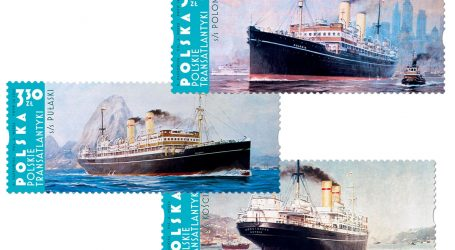 Transatlantic ships on Polish postage stamps for the first time in a long time