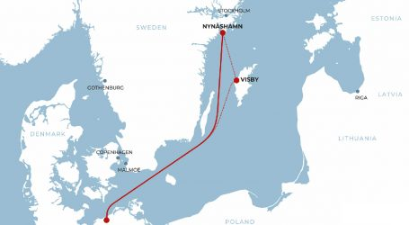New ferry line in the Baltic opened by Rederi AB Gotland connects Nynäshamn and Rostock