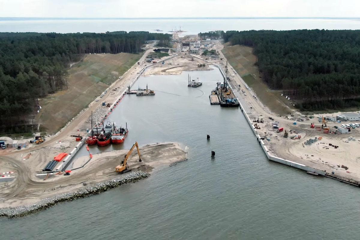 waterway across the Vistula Spit in Poland