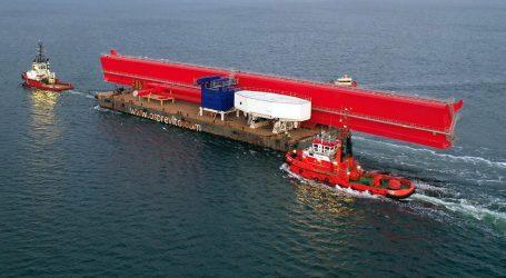 Konecranes shipyard crane built in Tri-City on its way to France
